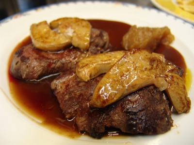 Tenderloin with foie